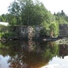 Ууксу. Нижняя плотина в малую воду